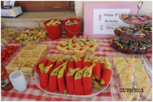"Some of party food according to the ""Jake and Neverland Pirates"" theme."