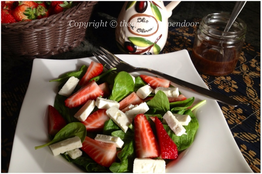 Strawberry Spinach Salad with Feta Cheese